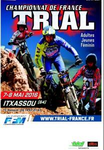 Affiche du championnat de France de Trial 2016 à Itxassou